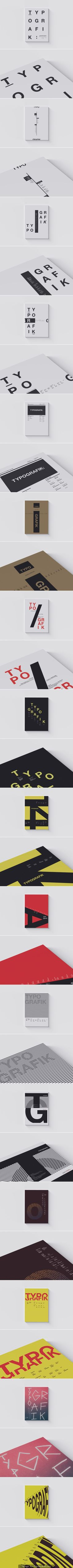 Typografik cover designs