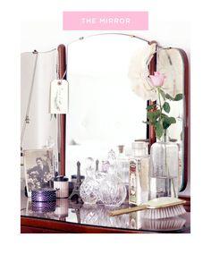 mirror, decor, emma vintag, vintage, vanities, dress tabl, vaniti tabl, vanity tables, bedroom interiors