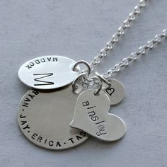 The Mother's Day Deadline is April 28 - This Grandmother's Necklace is the perfect heirloom for the woman in your life. The charms can be removed in the future and given to the kids to start their own heirloom pieces!
