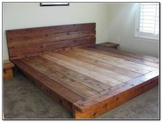 DIY platform beds - DIY bed made from reused wood - just do it yourself bed projects . - The Best Latex Mattresses - DIY platform beds – DIY bed made from reused wood – just make it yourself bed projects … – - King Platform Bed Frame, Platform Bed With Storage, Wood Platform Bed, King Size Bed Frame, Diy King Bed Frame, Wooden Bed Frame Diy, Cheap Platform Beds, Wood Bed Frames, Diy Queen Bed Frame