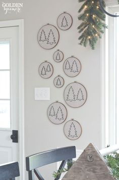 Christmas Tree Embroidery Hoop Wall Art - The Golden Sycamore