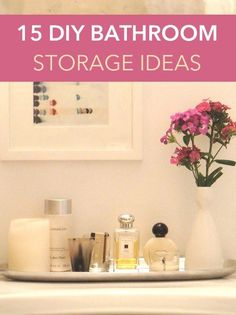 These simple bathroom storage solutions will quickly and easily upgrade your space.
