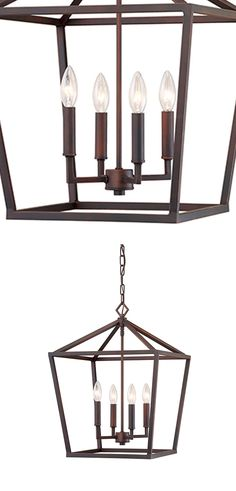 The Kenwood Rubbed Bronze 16-Inch Four Light Pendant is a stunningly simple lantern style fixture made without glass, making it slightly more casual yet much easier to clean than your average fixture. The true embodiment of the Classic Casual collection, this rubbed bronze light fixture features intricate and luxurious detailing along with a truly timeless shape and style to create a versatile addition to any style of home.