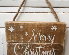 Christmas pallet sign We Believe Pallet sign by KettleRunCrafts
