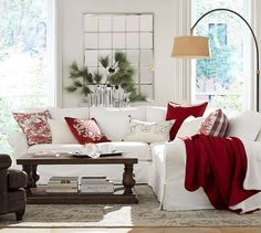Alpine Toile & Plaid Reversible Pillow Cover #potterybarn