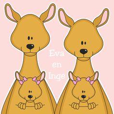 Meisjes tweeling by Heppie Kids - Felicitatiekaarten - tweeling - baby - meisjes - zwanger -  By Ontwerp Studio GIJNig voor Heppie Kids.