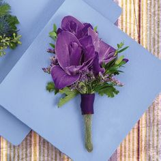corsage with purple flowers | Purple Gladiola Corsage | Call Us 206-728-2588 | Seattle Flowers