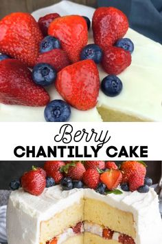 *NEW* The gorgeous and elegant berry chantilly cake that is perfect in every occasion! There is a little time commitment to making this sweet masterpiece, but the payoff is worth its weight in, well, cake! #berrychantillycake #chantillycake #cakes #desserts #summerdesserts #summercake #birthdaycake Homemade Cake Recipes, Best Dessert Recipes, Cupcake Recipes, Pie Recipes, Drink Recipes, Sweet Recipes, Cupcake Cakes, Summer Cakes, Summer Desserts