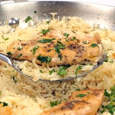 Chicken with Garlic Parmesan Rice is the perfect dish for easy weeknight dinners. Ingredients: chi Chicken with Garlic Parmesan Rice is the perfect dish for easy weeknight dinners. Healthy Chicken Dinner, Easy Healthy Dinners, Healthy Recipes, Weeknight Dinners, Chicken Dishes For Dinner, Rice Recipes For Dinner, Health Dinner, Easy Casserole Recipes, Baked Chicken Recipes