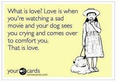 That is love! My doggie does it all the time :) love that little squirt!