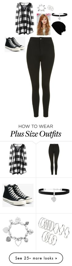 """""""MIestilo0829"""" by paolaalbo on Polyvore featuring Topshop, Converse, KBETHOS, ChloBo and H&M"""