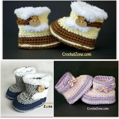Free Crochet Pattern for Fuzzy UGG look Booties #diy #crafts #crochetpattern