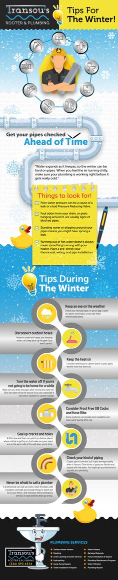 From holiday kitchen mishaps to washroom emergencies, learn how to avoid common plumbing problems. Be proactive and help safeguard your rooter and plumbing system throughout the winter months. Rooter Plumbing, Plumbing Problems, Washroom, Things To Come, Infographics, Tips, Winter Months, Garden, Holiday