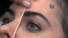 eyebrow shape tutorial video.