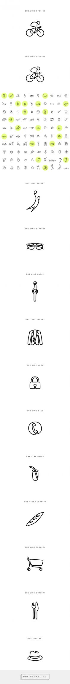 One Line Icons – Fubiz Media - created via http://pinthemall.net