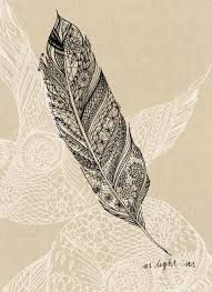 feather tattoo black and white - Google Search