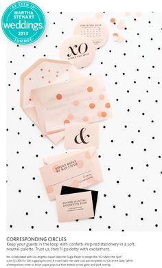 XO Marks the Spot | Sugar Paper Los Angeles featured in Martha Stewart Weddings