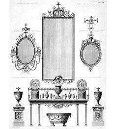 Robert Adam furniture designs for Kenwood