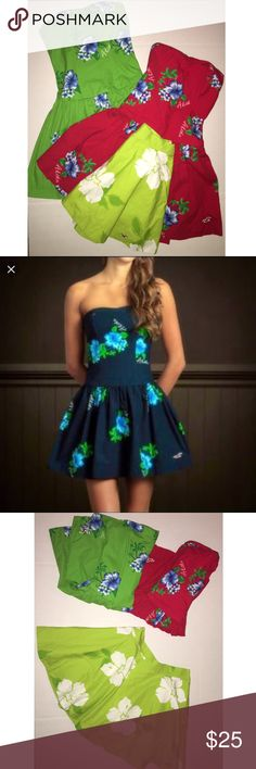 Hollister 3 for 1 Lot of aloha dresses and skirt These are all size S and XS, worn once and washed in like new condition paid full price at $120 you get all three for a great price! Hollister Dresses