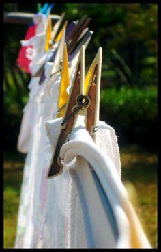 clothes pins.