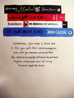 Quote by John Green, The fault in our stars