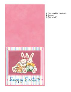 easter card to print