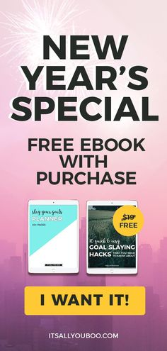 Want to make 2019 your year? Click here to get the ultimate goals planner for achieving your goals in the new year. Plus, get the Goal Slaying Hacks eBook for FREE with purchase. #GoalPlanner #2019Goals #GoalsPlanning #Planner #PlannerLove #PlannerGirl #NewYears #PlannerNerd #PlannerCommunity #PlannerAddict #DailyPlanner #AccomplishGoals #AchieveYourGoals #ReachingYourGoals #SetGoals #GoalSettingTips #Printable #NewYearsGoals #GoalDigger #LifeGoals #LifePlanning Goals Printable, Printable Quotes, Printable Planner, Goals Planner, Planner Pages, New Years Resolution List, Self Development Books, Personal Development, New Year Special