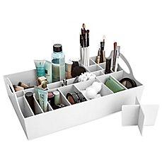 Makeup Vanity Tray Rustic - bathroom vanity tray in cosmetic organizers