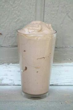 Skinny shake. Tastes like Wendy's Frosty. 3/4 cup almond milk 15 ice cubes 1/2 teaspoon of vanilla 1 - 2 tablespoons of unsweetened cocoa powder 1/3 of a banana Blend