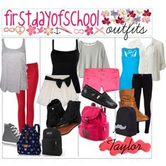 Back to school outfits the 1st and last one are awesome More