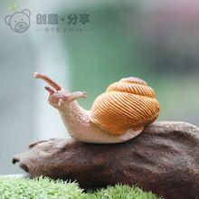 Mini atacado Caracol Artesanato Resina Miniaturas para terrários Moss Início Deocration Acessórios Brinquedos De Fadas Jardim gnome Artesanal(China (Mainland))