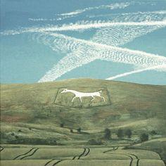 """White Horse, Alton Barnes"" by David Inshaw, 2012"