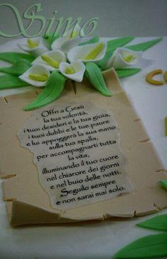 la pergamena, torta per la prima comunione della pasticceria La Mimosa di http://www.simocakedesigner.it