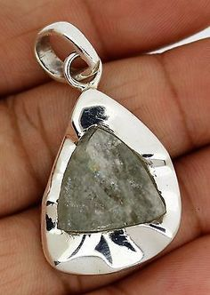 sterling silver pendent 925 solid aquamarine gemstone genuine jewelry handmade