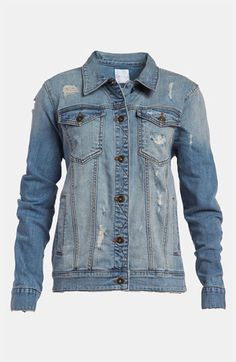 Leith Distressed Denim Boyfriend Jacket, $78 available at Nordstrom.Savvy