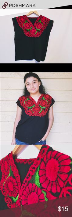 Embroidered Blouse New. Craftsmanship by Mexican artists. Perfectly fits a size S and M Tops Blouses