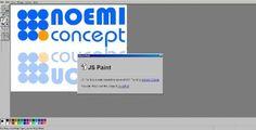 MSpaint réssucité et amélioré par JavaScript - JSPaint  JSPaint est une application reprennant les mêmes fonctions de dessin que le célèbre programme d'édition graphique basique MSPaint.   http://www.noemiconcept.com/index.php/fr/departement-communication/news-departement-com/207267-webdesign-mspaint-r%C3%A9ssucit%C3%A9-et-am%C3%A9lior%C3%A9-par-javascript-jspaint.html