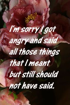 Haha, this is great. It sounds like me, except for the sorry part. I'm not sorry about what I've said.