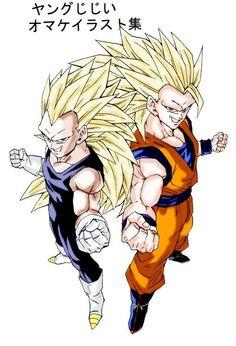 Vegeta and Goku super saiyan 3