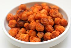 Buffalo Roasted Chickpeas (Made these twice in 2 days . . . seriously addictive! Tweaked a little: doubled up on the chickpeas and hot sauce, used coconut oil instead of EB - NO palm oil in my house!, added about 3 tbsp. maple syrup - love the sweet and spicy, and a little garlic and onion powder.)