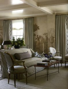 What is GRISAILLE? The Merriam Webster Dictionary definition is:: decoration in tones of a single color and especially gray designed to produce a three-dimensio