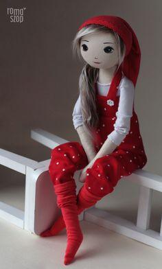 Jabłonka – roma krasnalinka, handmade doll by romaszop                                                                                                                                                                                 More