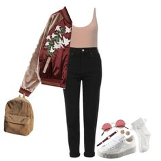 Untitled #270 by kaylastar221 on Polyvore featuring moda, Topshop, Monsoon, Hermès, Versace and Puma