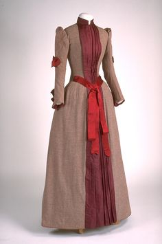 Dress ca. 1890  From the Musée du Costume et du Textile du...