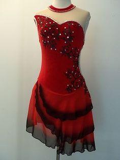 custom made figure skating dresses tango | Custom made new ice skating dance dress