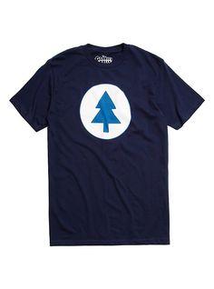 Disney Gravity Falls Tree Logo T-Shirt, BLUE
