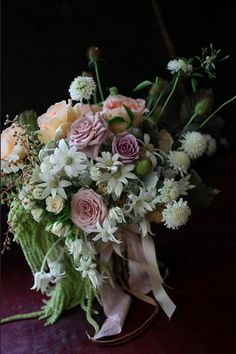 Little Flower School Flannel Flower, Event Company, A Boutique, Flower Designs, Floral Arrangements, Wedding Flowers, Daisy, Floral Wreath, Wreaths