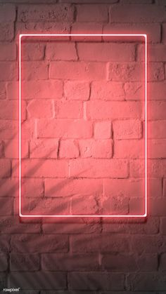 premium image of Neon red frame on a brick wall 894328 Framed Wallpaper, Phone Screen Wallpaper, Neon Wallpaper, Graphic Wallpaper, Aesthetic Iphone Wallpaper, Brick Wall Wallpaper, Marco Polaroid, Instagram Frame Template, Best Background Images