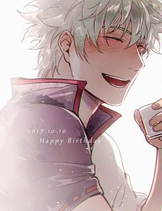 Happy Birthday Gintoki (Gintama) on Manga Anime, Anime Art, Anime Boys, Silver Samurai, Gintama, Anime Boy Zeichnung, Okikagu, Character Design Animation, Cartoon Shows