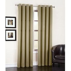 Madison Grommet Room-Darkening Curtain Panel Really like these!  Has several colors, including Gold and Red, and Sage. Great price, from Wal Mart *Favorite*